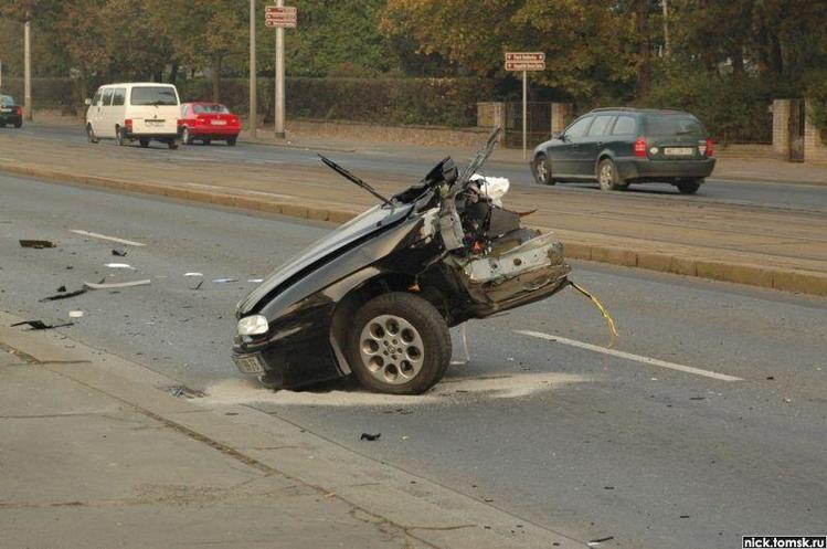 Фото авто после аварии